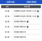 """토요일 드라마 편성 , 재방송 편성 정보 모음... """"아이템 """" 시청률은?!!"""