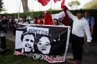 우루과이에 망명 신청한 페루 전 대통령 항의 시위
