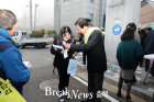 충북 옥천고등학교 앞 수능고사장 풍경
