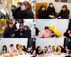 아이즈원(IZ*ONE), 겨울 간식 먹방 V라이브로 일상 공개..천만하트 달성