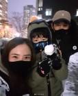 """'둘째 임신' 유하나♥이용규 부부, """"우리의 첫 #눈사람"""" 가족 일상 화제"""