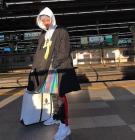 메킷레인 수장 루피, 오사카에서도 눈에 띄는 패션…'완벽 그 자체'