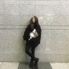 """'엄마 나 왔어' '하현우♥' 허영지, 올블랙 패션뽐내는 일상…""""오늘은 블랙"""""""