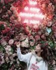'런닝맨' 설인아, 꽃 앞에서 기념 사진…'누가 꽃이야?'