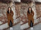 우메이마, 브라운 컬러 겨울 코트입고 '유럽감성 미녀'