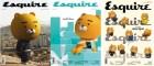 카카오프렌즈 인기 캐릭터 '라이언', 에스콰이어 3월호 커버 모델 장식