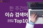 한 주간의 이슈 검색어 Top10