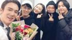 '커피프렌즈' 유연석, 공연장 찾은 최지우 양세종 손호준 조재현과 훈훈한 셀카 공개