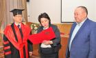 키르키즈 국립경제대학교 김춘곤 회장에 명예교수 수여