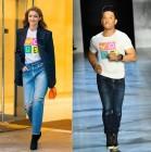 """""""투표합시다"""" 지지 하디드, 셀프 투표 티셔츠로 멋낸 투표 패션"""