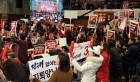 '태극기 부대'에 점령당한 한국당 전당대회