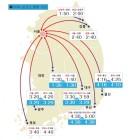 고속도로교통상황, 부산→서울 승용차로 5시간