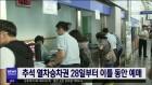 추석 열차승차권 28일부터 이틀 동안 예매