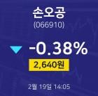 2월 19일 손오공 투자주식 2640원 -0.38%