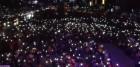 """광화문 '김경수무죄' 한목소리, 촛불들며 """"적폐들 준동때엔 햇불들 것이다"""""""