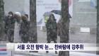 <서울>서울 오전 함박 눈... 찬바람에 강추위