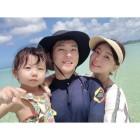 안현수♥우나리, 괌 접수한 가족..서로 닮은 행복 미소