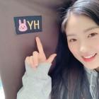 김혜윤, 의자 선물받고 미소 활짝 '토끼처럼 귀여워'